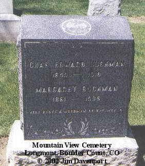 BUCKMAN, CHAS. EDWARD - Boulder County, Colorado | CHAS. EDWARD BUCKMAN - Colorado Gravestone Photos