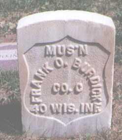 BURDICK, FRANK O. - Boulder County, Colorado | FRANK O. BURDICK - Colorado Gravestone Photos