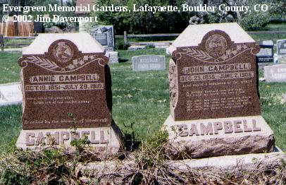 CAMPBELL, JOHN - Boulder County, Colorado | JOHN CAMPBELL - Colorado Gravestone Photos