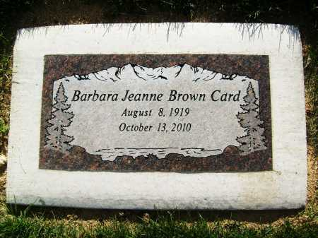 CARD, BARBARA JEAN - Boulder County, Colorado | BARBARA JEAN CARD - Colorado Gravestone Photos