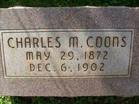 COONS, CHARLES M. - Boulder County, Colorado   CHARLES M. COONS - Colorado Gravestone Photos