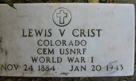 CRIST, LEWIS V. - Boulder County, Colorado | LEWIS V. CRIST - Colorado Gravestone Photos