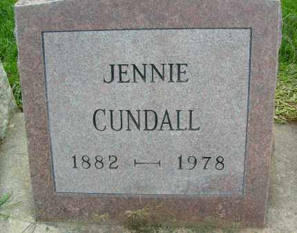 CUNDALL, JENNIE - Boulder County, Colorado | JENNIE CUNDALL - Colorado Gravestone Photos