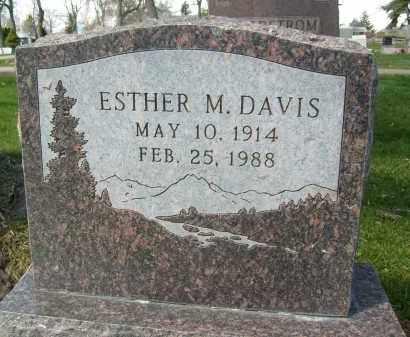 DAVIS, ESTHER M. - Boulder County, Colorado | ESTHER M. DAVIS - Colorado Gravestone Photos