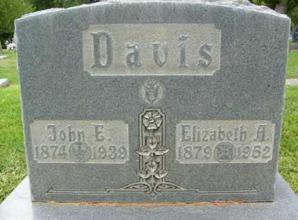 DAVIS, JOHN E. - Boulder County, Colorado   JOHN E. DAVIS - Colorado Gravestone Photos