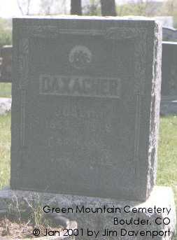 DAXACHER, JOSEPH - Boulder County, Colorado   JOSEPH DAXACHER - Colorado Gravestone Photos