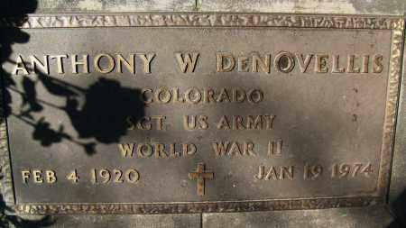 DE NOVELLIS, ANTHONY W. - Boulder County, Colorado | ANTHONY W. DE NOVELLIS - Colorado Gravestone Photos