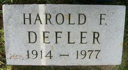 DEFLER, HAROLD F. - Boulder County, Colorado   HAROLD F. DEFLER - Colorado Gravestone Photos