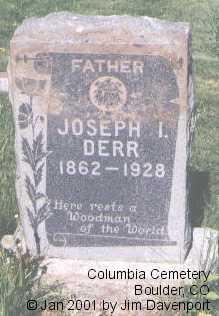 DERR, JOSEPH I. - Boulder County, Colorado | JOSEPH I. DERR - Colorado Gravestone Photos