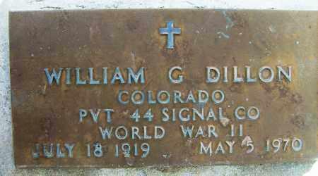 DILLON, WILLIAM G. - Boulder County, Colorado | WILLIAM G. DILLON - Colorado Gravestone Photos