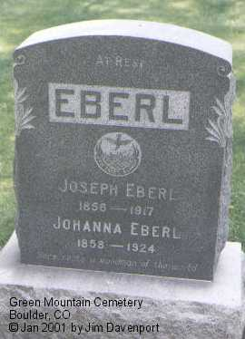 EBERL, JOSEPH - Boulder County, Colorado | JOSEPH EBERL - Colorado Gravestone Photos
