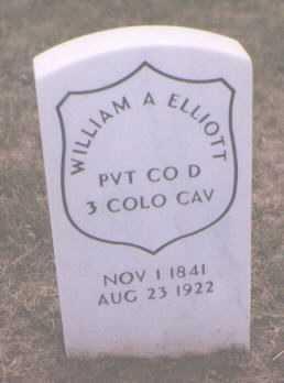 ELLIOTT, WILLIAM A. - Boulder County, Colorado | WILLIAM A. ELLIOTT - Colorado Gravestone Photos
