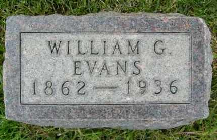 EVANS, WILLIAM G. - Boulder County, Colorado | WILLIAM G. EVANS - Colorado Gravestone Photos
