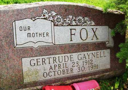 FOX, GERTRUDE GAYNELL - Boulder County, Colorado   GERTRUDE GAYNELL FOX - Colorado Gravestone Photos