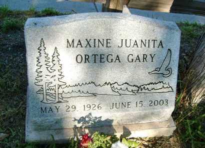 ORTEGA GARY, MAXINE JUANITA - Boulder County, Colorado | MAXINE JUANITA ORTEGA GARY - Colorado Gravestone Photos