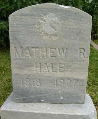 HALE, MATHEW R. - Boulder County, Colorado | MATHEW R. HALE - Colorado Gravestone Photos