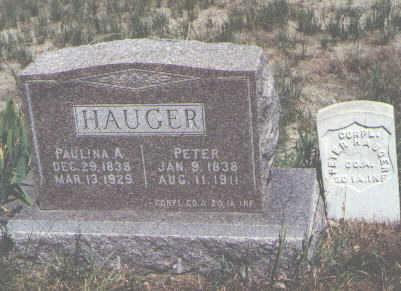 HAUGER, PETER - Boulder County, Colorado | PETER HAUGER - Colorado Gravestone Photos