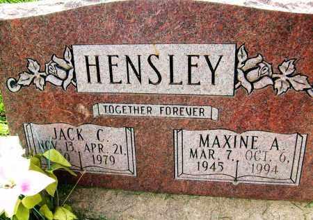 HENSLEY, JACK C. - Boulder County, Colorado | JACK C. HENSLEY - Colorado Gravestone Photos
