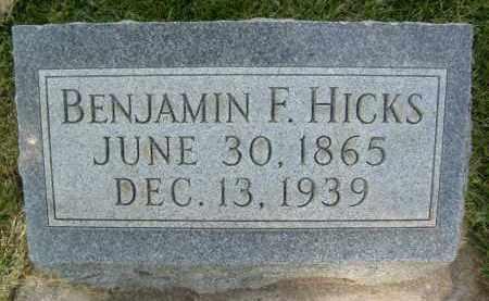 HICKS, BENJAMIN F. - Boulder County, Colorado | BENJAMIN F. HICKS - Colorado Gravestone Photos