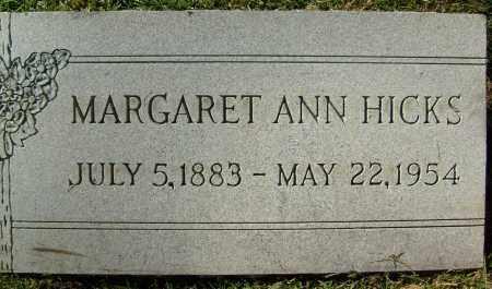 HICKS, MARGARET ANN - Boulder County, Colorado   MARGARET ANN HICKS - Colorado Gravestone Photos