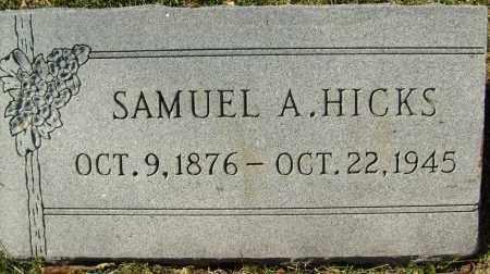 HICKS, SAMUEL A. - Boulder County, Colorado   SAMUEL A. HICKS - Colorado Gravestone Photos