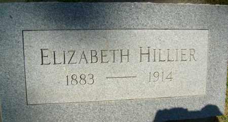 HILLIER, ELIZABETH - Boulder County, Colorado | ELIZABETH HILLIER - Colorado Gravestone Photos