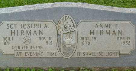 HIRMAN, ANNE E. - Boulder County, Colorado | ANNE E. HIRMAN - Colorado Gravestone Photos