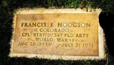 HODGSON, FRANCIS E. - Boulder County, Colorado | FRANCIS E. HODGSON - Colorado Gravestone Photos