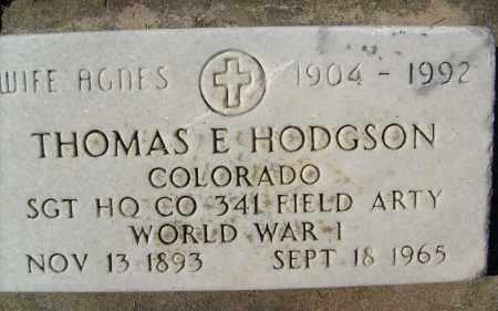 HODGSON, AGNES - Boulder County, Colorado | AGNES HODGSON - Colorado Gravestone Photos