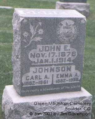 JOHNSON, EMMA A. - Boulder County, Colorado | EMMA A. JOHNSON - Colorado Gravestone Photos