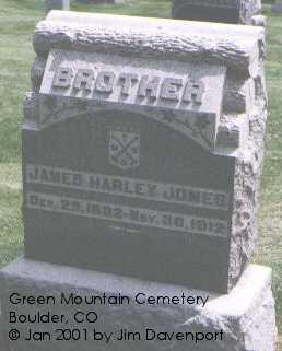 JONES, JAMES HARLEY - Boulder County, Colorado | JAMES HARLEY JONES - Colorado Gravestone Photos