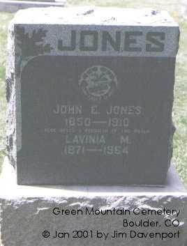 JONES, LAVINA M. - Boulder County, Colorado | LAVINA M. JONES - Colorado Gravestone Photos