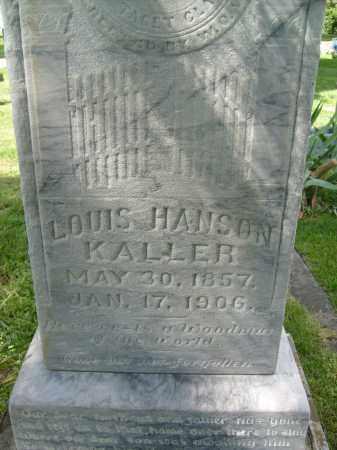KALLER, LOUIS HANSON - Boulder County, Colorado | LOUIS HANSON KALLER - Colorado Gravestone Photos