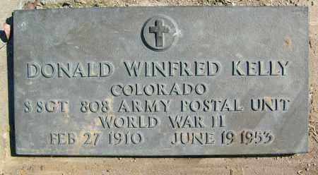 KELLY, DONALD WINFRED - Boulder County, Colorado | DONALD WINFRED KELLY - Colorado Gravestone Photos