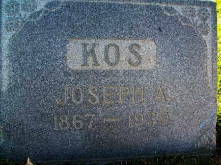 KOS, JOSEPH A. - Boulder County, Colorado | JOSEPH A. KOS - Colorado Gravestone Photos