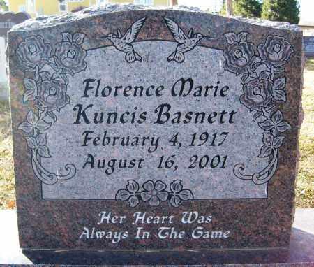 KUNCIS BASNETT, FLORENCE MARIE - Boulder County, Colorado   FLORENCE MARIE KUNCIS BASNETT - Colorado Gravestone Photos