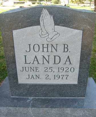 LANDA, JOHN B. - Boulder County, Colorado | JOHN B. LANDA - Colorado Gravestone Photos