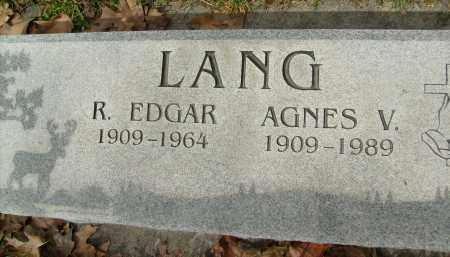 LANG, AGNES V. - Boulder County, Colorado | AGNES V. LANG - Colorado Gravestone Photos