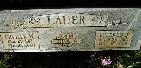 LAUER, ORVILLE W. - Boulder County, Colorado | ORVILLE W. LAUER - Colorado Gravestone Photos