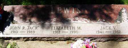 "LEWIS, JOHN R. ""JACK"" - Boulder County, Colorado | JOHN R. ""JACK"" LEWIS - Colorado Gravestone Photos"
