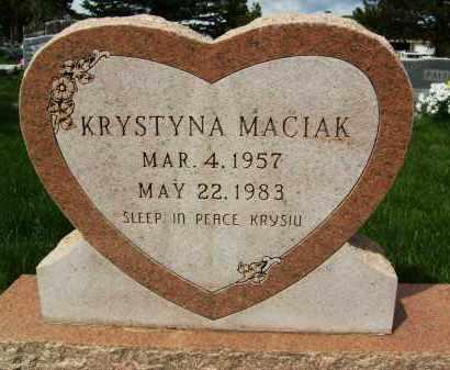 MACIAK, KRYSTYNA - Boulder County, Colorado | KRYSTYNA MACIAK - Colorado Gravestone Photos
