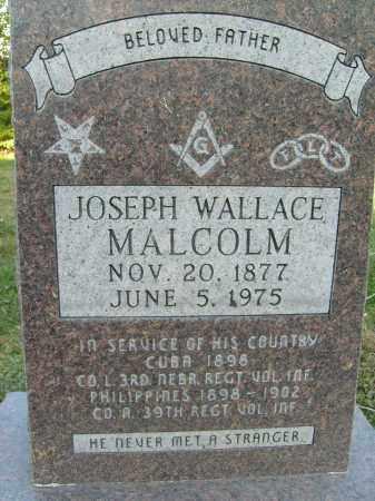 MALCOLM, JOSEPH WALLACE - Boulder County, Colorado | JOSEPH WALLACE MALCOLM - Colorado Gravestone Photos