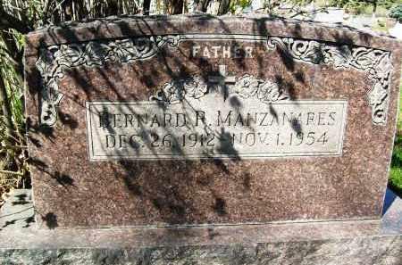 MANZANARES, BERNARD R. - Boulder County, Colorado   BERNARD R. MANZANARES - Colorado Gravestone Photos