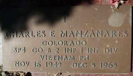 MANZANARES, CHARLES E. - Boulder County, Colorado   CHARLES E. MANZANARES - Colorado Gravestone Photos