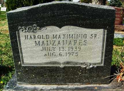 MANZANARES, HAROLD MAXIMINIO, SR. - Boulder County, Colorado | HAROLD MAXIMINIO, SR. MANZANARES - Colorado Gravestone Photos