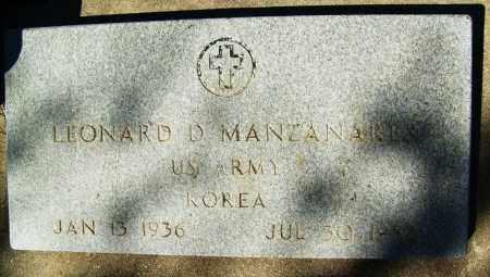 MANZANARES, LEONARD D. - Boulder County, Colorado   LEONARD D. MANZANARES - Colorado Gravestone Photos