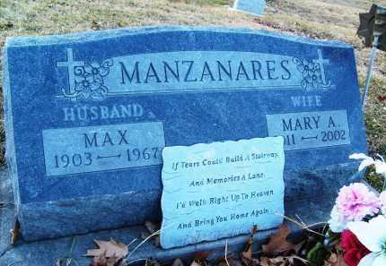 MANZANARES, MAX - Boulder County, Colorado | MAX MANZANARES - Colorado Gravestone Photos
