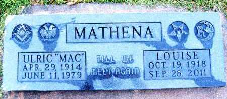 MATHENA, LOUISE - Boulder County, Colorado | LOUISE MATHENA - Colorado Gravestone Photos