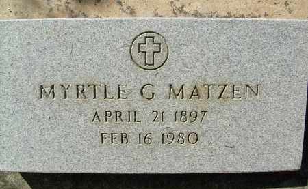MATZEN, MYRTLE G. - Boulder County, Colorado | MYRTLE G. MATZEN - Colorado Gravestone Photos