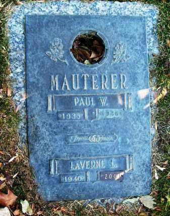 MAUTERER, LAVERNE L. - Boulder County, Colorado | LAVERNE L. MAUTERER - Colorado Gravestone Photos